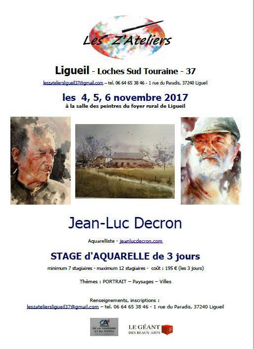 Stage Portrait et Paysage en aquarelle @ Foyer rural | Ligueil | Centre-Val de Loire | France
