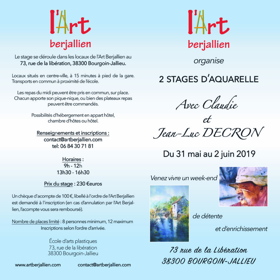 Stage Portrait à Bourgoin-Jallieu 38 @ Centre de l'Art Berjallien
