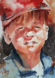 Jeune homme à la casquette rouge