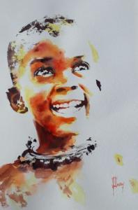 Enfant au collier